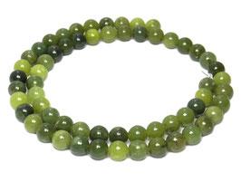 Grüne Jade Kugeln 6 mm - Strang
