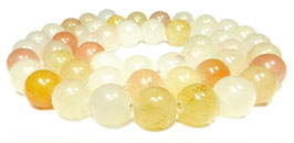 Gelbe Jade Kugeln 8 mm Edelsteinperlen Strang