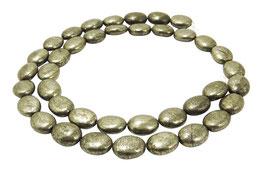 Pyrit Ovale ca. 10x8 mm - Strang