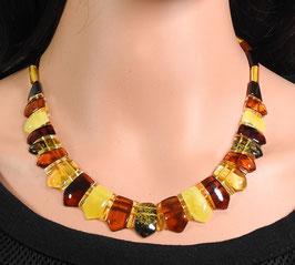Bernstein Halskette multicolor