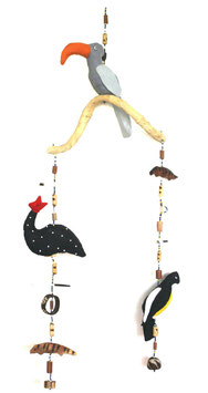 Mobile Stoffvögel