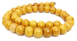 Jakobsfruchtbaumholz Kugeln 11 mm Holzperlen - Strang