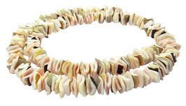 Kegelfechterschnecke Mix quadratische Heishi Perlen ~ 8 mm Muschelperlen