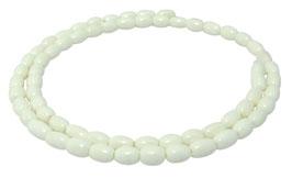 Knochen-Perlen kleine Oliven ca. 7x5 mm - Naturperlen Strang