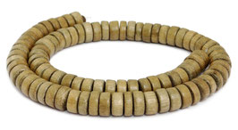 Indisches Silbergrauholz Räder ca. 10x4-5 mm Holzperlen - Strang