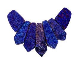 Achat blau & lila galvanisiertes Perlen Set