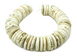 Magnesit Heishi Perlen dünne runde Scheiben ca. 16x3 mm  - ca. 50 Stück