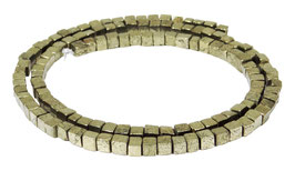 Pyrit ca. 3 mm Würfel - Strang