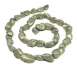 Pyrit Nuggets ca. 8-16 x 8 mm – Strang
