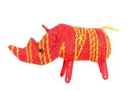 Nashorn aus buntem Draht