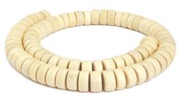 Ambaba-Weißholz Räder ca. 8x3-5 mm Holzperlen - Strang