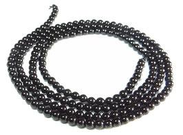Onyx Saatperlen 2 mm Kugeln Edelstein-Perlen Strang