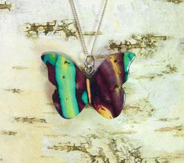 Heidekraut Schmetterling-Anhänger an Sterling-Silber Halskette
