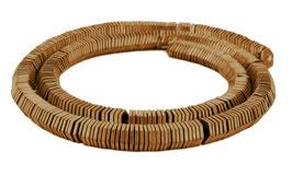 Hämatit matt bronze sechseckige Scheiben / Heishi Perlen ca. 6x1 mm - Strang
