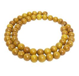 Goldenes Sandelholz Kugeln 8 mm - ca. 52 Perlen