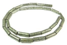 Pyrit Walzen / Röhrchen ca. 13 x 4 mm – Strang