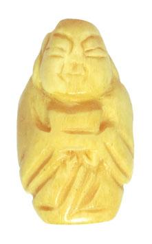 Knochen-Perle Buddha ca. 30x18x12 mm Naturperle Mala Perle