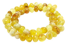 Gelber Opal rundliche Nuggets ca. 8-12 mm - Strang