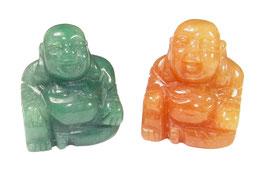 Buddha Perle od. Anhänger aus rotem oder grünem Aventurin ca. 16x20 mm