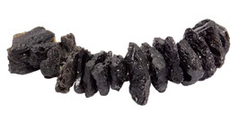 "Tektit (""Kraterglas"") scheibenförmige Nuggets ca. 15 - 25 mm – Strang"