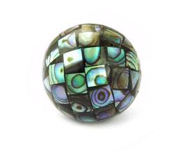 Große Abalone Mosaik-Kugeln 25 mm XXL Perlen (Perlmutt / Paua) - 1 Stück