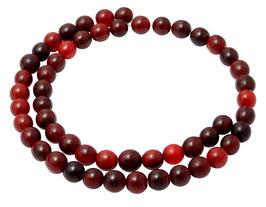 Rotes Horn Kugeln 8 mm Perlen Hornperlen Naturperlen Strang Mala Perlen
