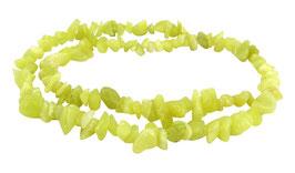 Serpentin gelbgrüne Splitter-Nuggets ca.6-12 x 2-6 mm - Strang