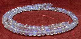 Opalith / Opal-Glas facettierte Rondelle ca. 6x4mm - Strang