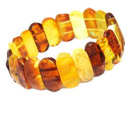 Bernstein Armband (Frauen) multicolor längliche Scheiben