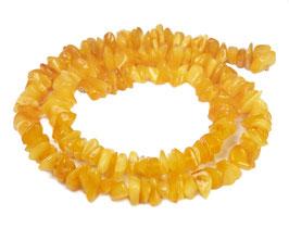 Bernstein Splitter Nuggets butterscotch und honigfarben ca. 7-10 mm - Strang