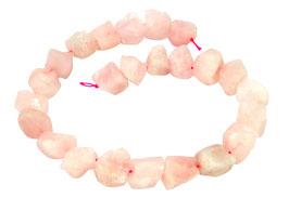 Rosenquarz naturbelassene Nuggets ca. 15-20 mm Edelstein-Perlen Strang