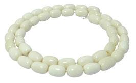 Knochen-Perlen Oliven ca. 10x6 mm - Naturperlen Strang