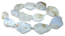 Chalcedon große reliefpolierte Nuggets ~25-35 x 22 mm - Strang