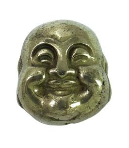 Pyrit Buddha Kopf Perle ca. 18 x 17 mm längs gebohrt Buddhakopf