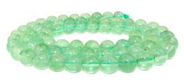 Grüner Fluorit Kugeln 6 mm - Strang