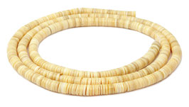 Melonenschnecke Heishi 5mm - XL-Strang