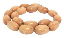 Indisches Rosa Palisanderholz Oliven ca. 23x14 mm Perlen Strang