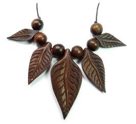 Blätter fein gearbeiteter Holzschmuck Blatt Gravur Anhänger Holz-Perlen