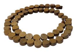 Indisches Silbergrauholz Münzen ca. 8x4 mm - Strang