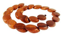Tindaloholz schräge Ovale ca. 22x15x7 mm - Strang