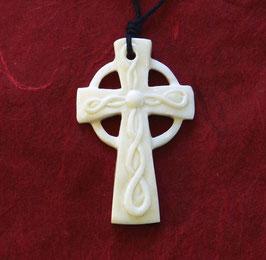 Keltisches Kreuz Knochen Anhänger ca. 5 cm Irland Kelten