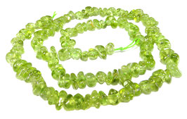 Peridot Splitter-Nuggets ca. 5-8 mm - Strang