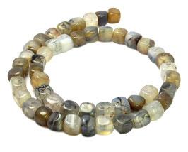 Drachen-Achat Würfel ca. 7-8 mm - Perlen Strang