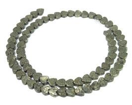 Pyrit Herzen ca. 6 mm Edelstein - Strang