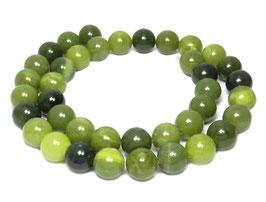 Grüne Jade Kugeln 10 mm - Strang