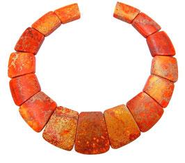 Impressionen Jaspis oranges Trapez-Scheiben Perlen Set