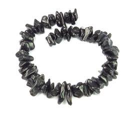 Tektit / Kraterglas (durch Meteorit entstanden) Splitter-Nuggets ca. 10-15 mm - 20 cm Strang