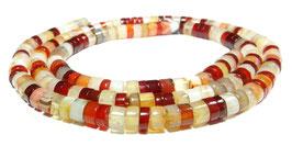 Karneol kleine Räder ca. 2 x 4 mm Heishi Perlen - Strang