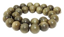 Indisches Silbergrauholz Holzperlen Kugeln 15 mm - Strang