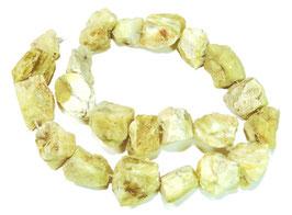 Gelber Opal naturbelassene Nuggets ca. 15-25 mm - Strang